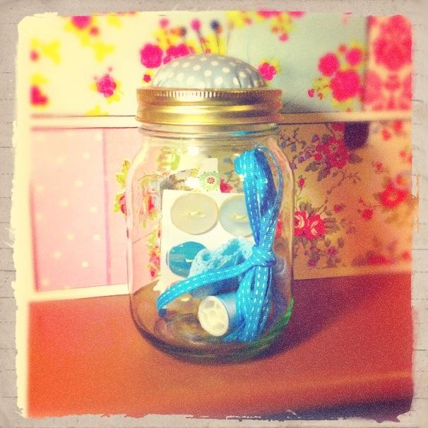 sewing kit jar